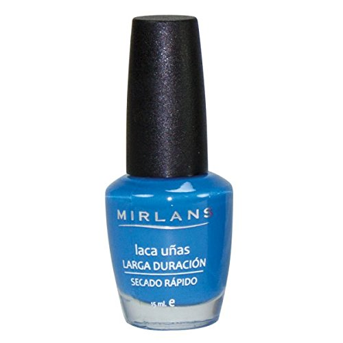 Mirlans, Laca uñas secado ultra rápido 15ml - Color Cyan