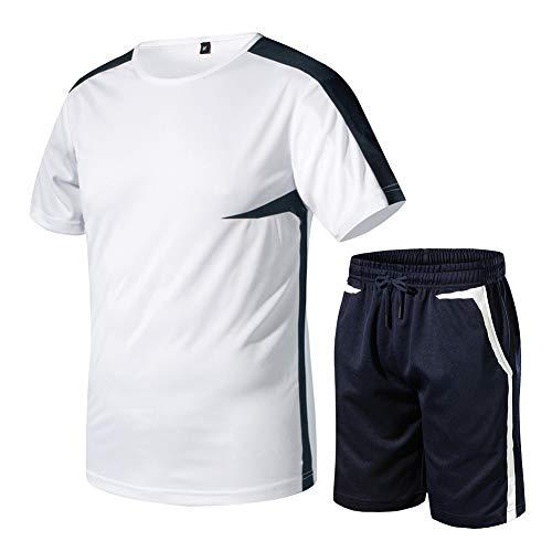 Sairain Uniforme de Futbol Traje ,Traje Casual de Hombre Estampado Irregular, Correr, montañismo, Traje Corto de Manga Corta
