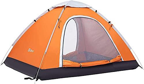Ubon Tienda Instantánea de Campaña para 2-3 Personas Pop-Up Ligera Anti-UV Protección Solar Cortavientos Portátil Refugio para Playa Camping Parque Picnic Naranja 3P