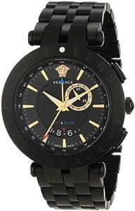 Versace Men's 29G60D009 S060 'V-Race' Black Stainless Steel Watch image