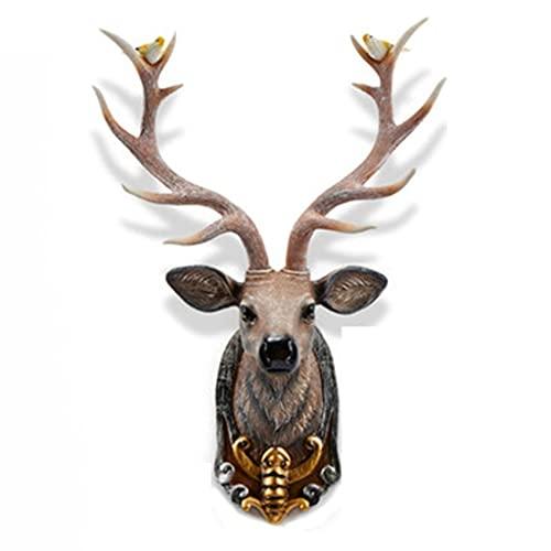 Creativo Decoración de la cabeza de los ciervos afortunados, colgante de la pared creativa, la pared del hogar Cabeza de los ciervos colgante, luz de lujo de lujo, salón porche tv fondo colgante Decor