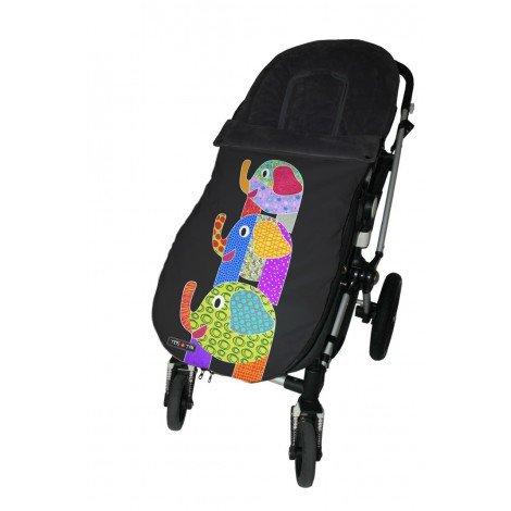 Trisyton Tris/&Ton Saco silla de paseo universal para bebe modelo Monkey Saco funda cochecito con forro polar impermeable invierno Saco de abrigo
