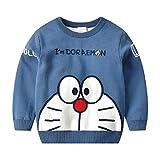 Bambino Bambini Vestiti a Maglia Maglioni per Ragazzi e Ragazze Maglione Cartoon Cotone Inverno Bambini Abbigliamento Doraemon Blue. 38