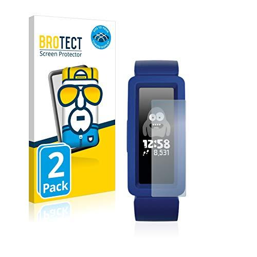 BROTECT Full-Cover Schutzfolie kompatibel mit Fitbit Ace 2 (2 Stück) - Full-Screen Displayschutz-Folie, 3D Curved, Kristall-Klar