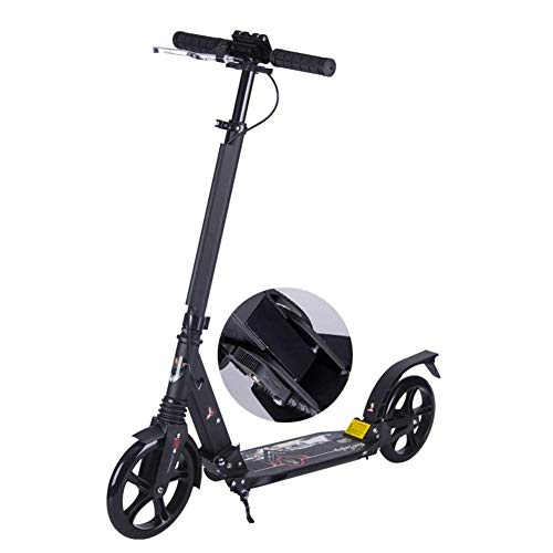 %17 OFF! CFJKN Kick Scooter Adult, Commuter Scooter with Disc Handbrake Height Adjustable Folding Ad...
