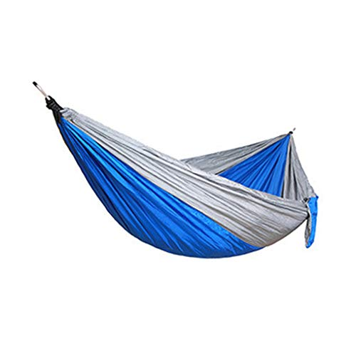 YOSIYO Single Double Hommock Outdoor Camping Backpacking Portable Swing Bed Nylon Hanging Hommock, Grey, Blue