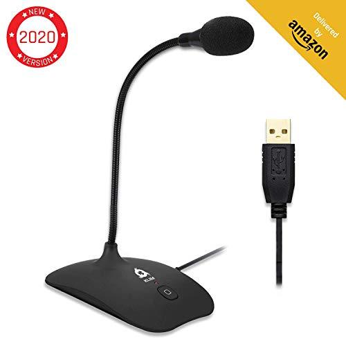 KLIM Talk - USB Standmikrofon für Mac und PC - Kompatibel mit Allen Computermodellen - Professioneller Desktop-Mikrofon - Hohe Klangqualität [ Neue 2020 Version ]