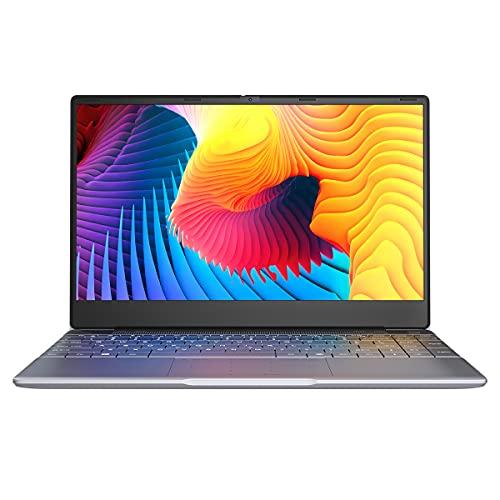 14 Pulgadas Ordenador Portátil Baratos, 8GB RAM 256GB SSD Laptop, Intel Celeron J4115 CPU Notebook, Desbloqueo de Huellas Dactilares Windows 10 Pro Monitor de PC Portátil 1920*1080 FHD Laptop