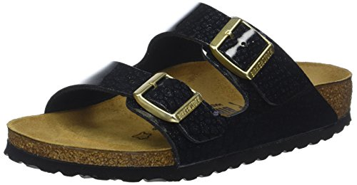 BIRKENSTOCK Damen Arizona Sandalen, Schwarz (Noir Magic Snake Black Noir Magic Snake Black), 41 EU