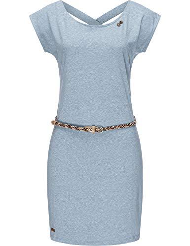 Ragwear Damen Kleid Dress Sommerkleid Strandkleid Jerseykleid Freizeitkleid Sofia Dress II Dusty Blue21 Gr. M