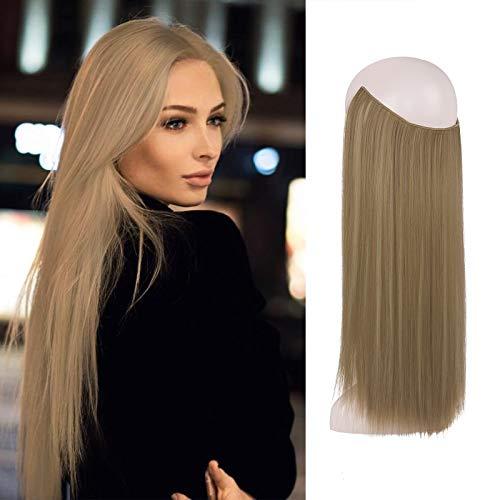 FESHFEN Secrets Hair Extensions, 46 cm Lange Glatt Haarverlängerungen Invisible Secret Extensions Synthetik Haare Unsichtbarem Extensions 1 Tresse Haarteile