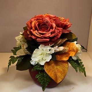 Home design - composizione fiori finti arancione