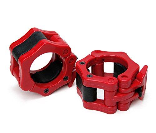 AFW 105109R 105109R-Collarín, Discos para Barra de musculación, Color Rojo, Talla M, Hombre, U