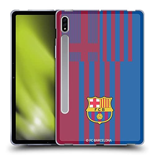 Head Case Designs Licenciado Oficialmente FC Barcelona Casa Kit Escudo 2021/22 Carcasa de Gel de Silicona Compatible con Samsung Galaxy Tab S7 5G
