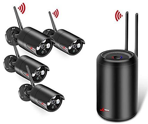 ANRAN 1080P Kit Cámaras de Vigilancia WiFi Exterior 2MP Sistemas de Vigilancia WiFi NVR...
