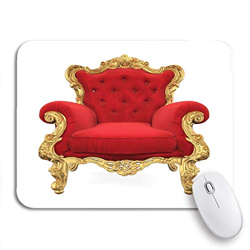 Gaming Mouse pad red King Throne Chair 3D Rendering royal Luxury Armchair Nonslip Rubber Backing Computer Mousepad for notebooks Mouse mats