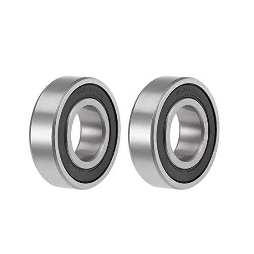 Rodamiento de bolas de garganta profunda Z2 de 20 mm x 42 mm x 12 mm, doble blindado de acero al carbono, 2 unidades