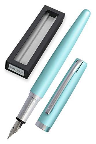 ONLINE stylo-plume Eleganza │ stylo en métal │ plume en iridium M │ convient aux cartouches d'encre standard ou convecteur │ boîte cadeau | couleur turquoise
