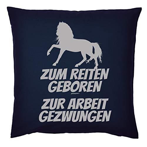 Mega-shirt cool kussen paard motief kussen kussen met vulling om te rijden geboren naar het werk gedwongen paard voor de ruitster geschenk voor paardenvrienden