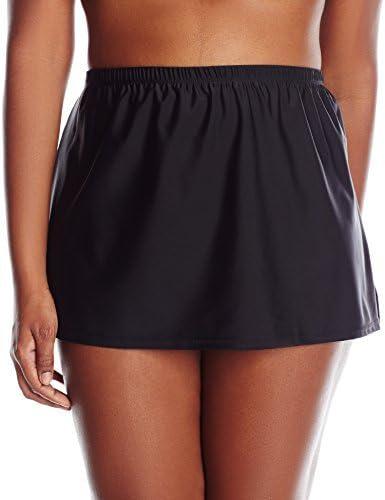 Beach Couture Women's Plus-Size Skirted Bikini Bottom with Panty