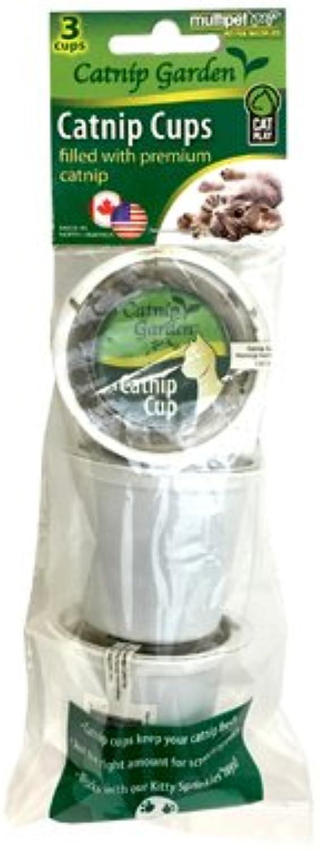 Multipet International 20533 3PK Catnip GDN K Cup  Quantity 3
