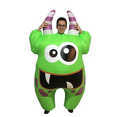 Happy Island Aufblasbares Dinosaurier-Affen-Kostüm für Halloween, Cosplay, Kostüm, lustige Aufblas-Kleidung für Erwachsene - Schwarz - Large