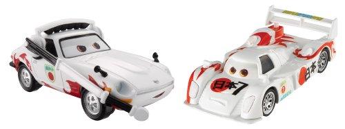 Mattel bdw79 – Disney Cars La Cast Lot de 2 Shu TODOR OKI et Mach Matsuo