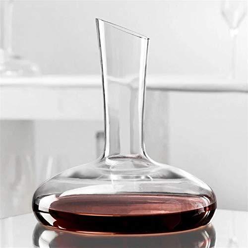 Decantador de vino redondo de cristal decantador de botellas de decantador W-ine aireador de jarra de cristal W-ine vertedor