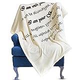 Prayer Blanket - Scripture Blanket - Inspirational Throw Blanket – Sherpa Fleece Blanket - Uplifting Healing Blanket with Inspirational Message - Get Well Soon Gift for Women Men - 50x63 in (Ivory)