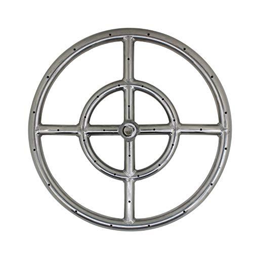 ROOwarMer Brennerring Gas rohrbrenner Edelstahl Φ306mm brennerrohr gasgrill für hockerkocher fire Pit Table tischgasgrill BBQ Garten