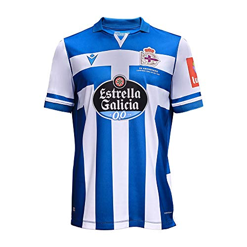 RC Deportivo Camiseta 1ª Equipación 2020/21, Unisex Adulto, Azul, L