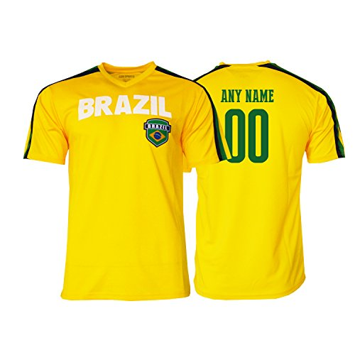 Pana Brasil Soccer Jersey Brazil Adult Training Custom Name and Number New Season (YL, Custom Name ADDS)