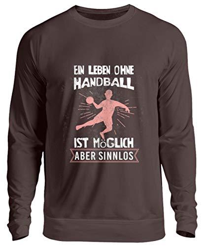 Schuhboutique Doris Finke UG (haftungsbeschränkt) EIN Leben ohne Handball ist möglich, abe - Unisex Pullover -XL-Schokolade