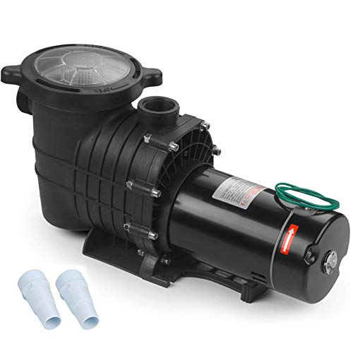 SUNCOO 2HP Dual Volt Inground Above Ground Pool Pump 110-120V/220-240V UL Certificated Swimming Spa Pool Pumps with Strainer Cord High Performance Motor for Water Clean Filter
