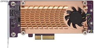 Qnap 双 M.2 22110/2280 SATA SSD 扩展卡(PCIe Gen2 X 2),半高支架预安装,低调平和全高捆绑 PCIe Gen2x2, M.2 SATA SSD X 2