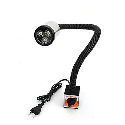 Drehmaschine Lampe HaroldDol LED Werkzeug Maschinenleuchte - Lange Arm 6W 110V-220V Arbeitsleuchte Schwanenhals Rund Magnetische Base Flexibel Lampe Wasserdicht