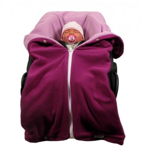 Autositzdecke, Babyschalendecke, Baby Fußsack, Kindersitzdecke, Buggy Decke von HOBEA-Germany im Design: beere rosa