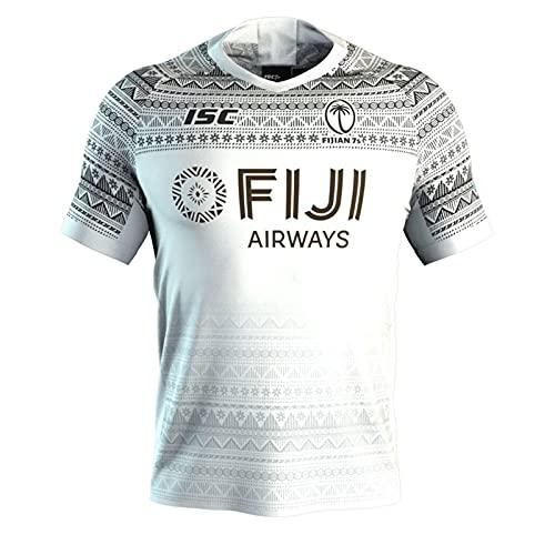 SJYMKYC Camiseta De Rugby, Versión 2020 Fiji 7S Camiseta Deportiva De Manga Corta Transpirable para Hombre(S-3XL)