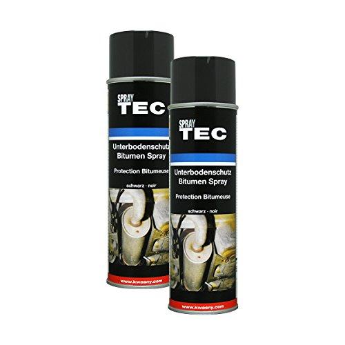 Kwasny 2X 235 500 Auto-K Spray TEC Unterbodenschutz Bitumen schwarz 500ml