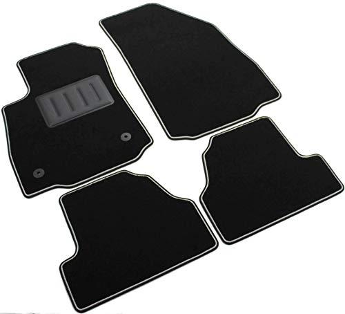 ilTappetoAuto by Fabbri3 - SPRINT03410 - Maßgeschneiderte Fußmatten für Auto aus Schwarzem Rutschfestem Teppich