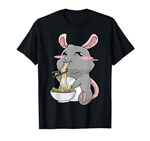 Ratte Ramen Nudeln Anime Kawaii T-Shirt