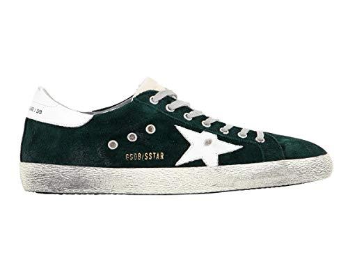 Golden Goose Scarpe Sneakers Uomo Vintage Superstar G32MS590.E78 Verde Argento N. 39 EU