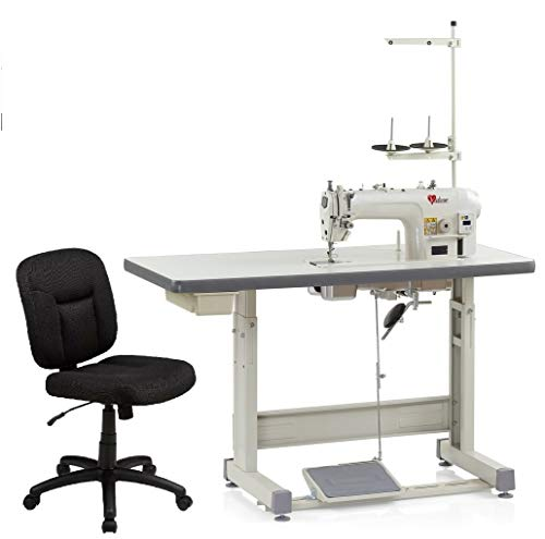 Industrial Sewing Machine Valsew V-8700D,Lockstitch Sewing Machine Built in Motor Chair, Table Cut Juki DDL8700