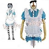 BELUNOT Black Butler Ciel Phantomhive in Wonderland Uniform Cosplay Halloween Party Costume Maid Dress Customized Size XXL
