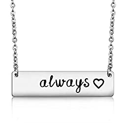 Harry Potter Always Quote necklace sterling silver