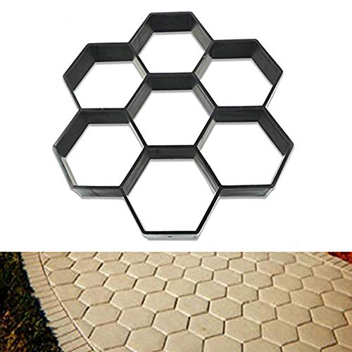 HomDSim 11.8x11.8 Path Maker Mold,Reusable Concrete Cement Stepping Stone Pattern Design Paver Paving Path Maker Model,DIY Personalized Construction Boards for Garden Yard Patio Lawn Driveway