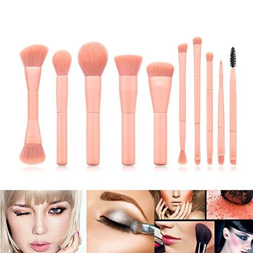 10pcs pinceau de maquillage doux lisse beauté Outil de maquillage Fard à joues Fan Double-Tête de brosse Matériel fiable