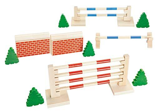 Tolle Reitsporthindernisse aus Holz / Set besteht aus 5 Hindernissen und 6 Sträucher Kinder ab 3 Jahre