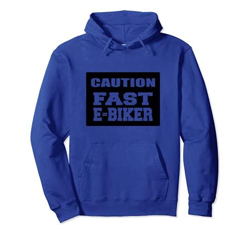 Attenzione veloce E-Biker bicicletta elettrica ciclismo Felpa con Cappuccio