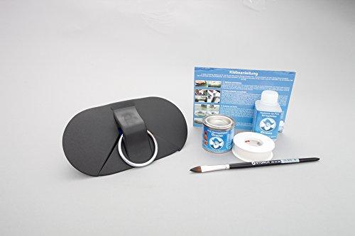 Set: O-ring Aqua 175 x 94 mm + lijm kit, rubber beslag om op te plakken rubberboten